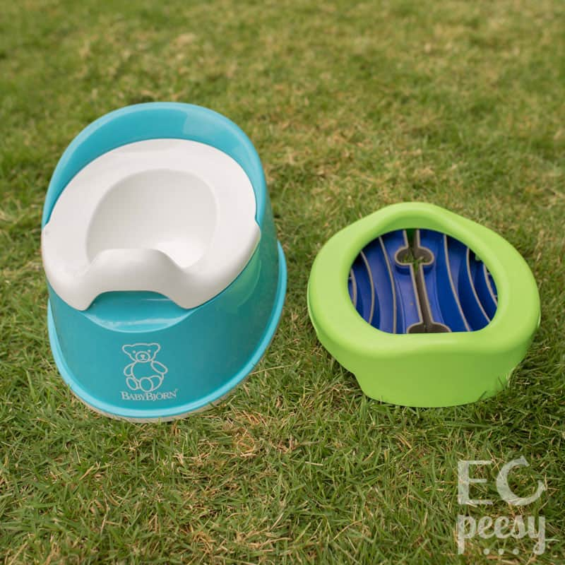 BabyBjorn Smart Potty and Folded Potette Plus