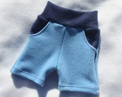 Little Green Honu Merino Wool Shorties Blue