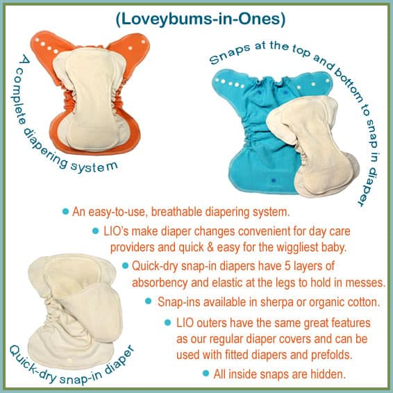 Loveybums-in-Ones