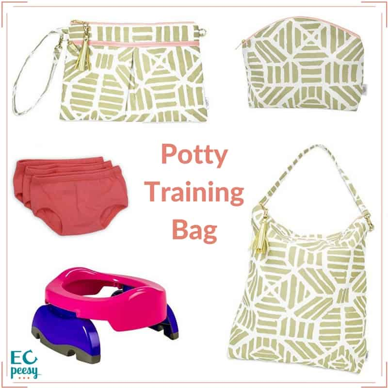 Packing Potty Training Bag with Travel Potty