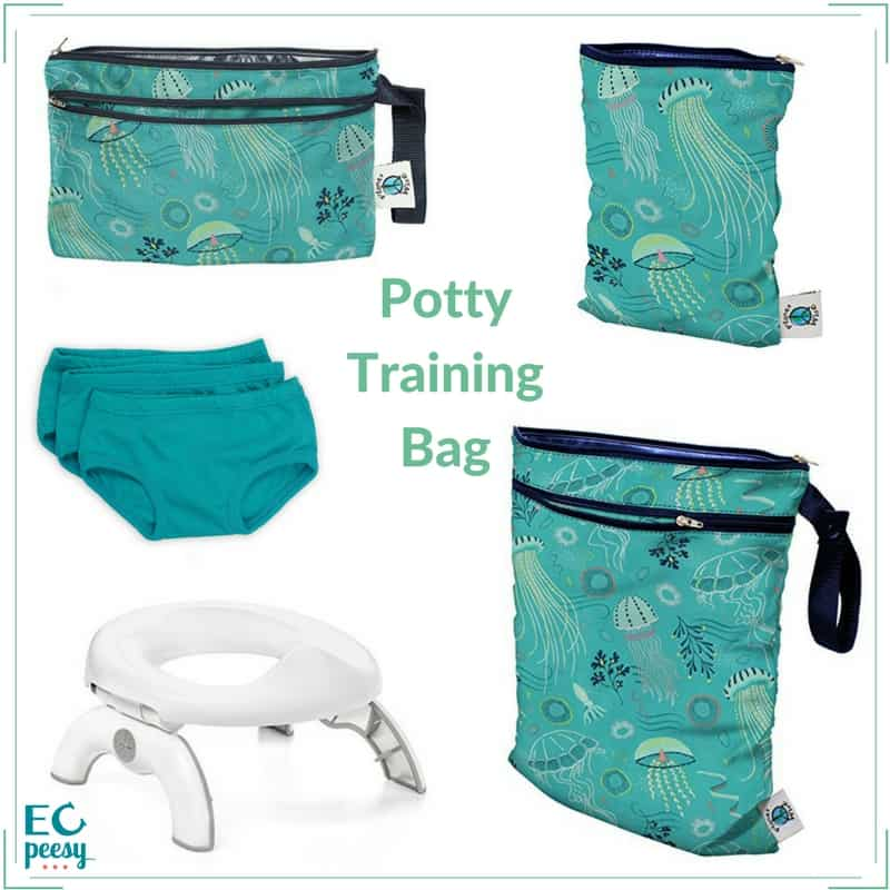 Planet Wise Potty Training Bag with OXO Travel Potty