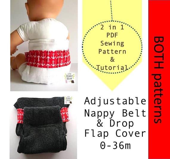 Little Bunny Bear Drop-Flap Nappy Pattern