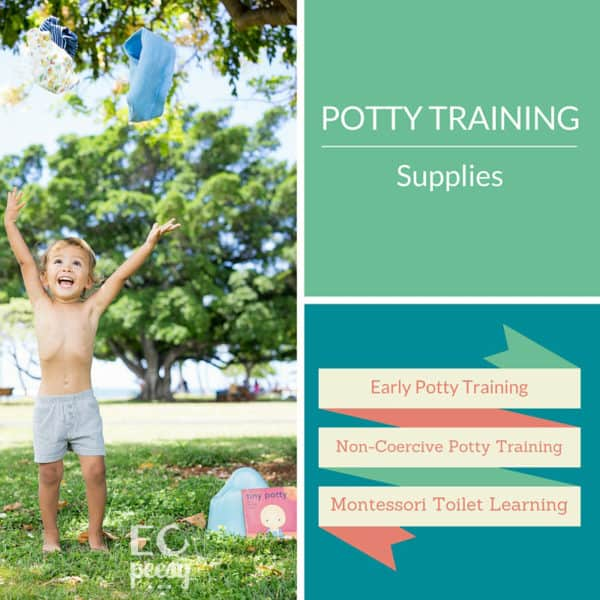 Early Potty Training Supplies for Non-Coercive Potty Training or Montessori Toilet Learning