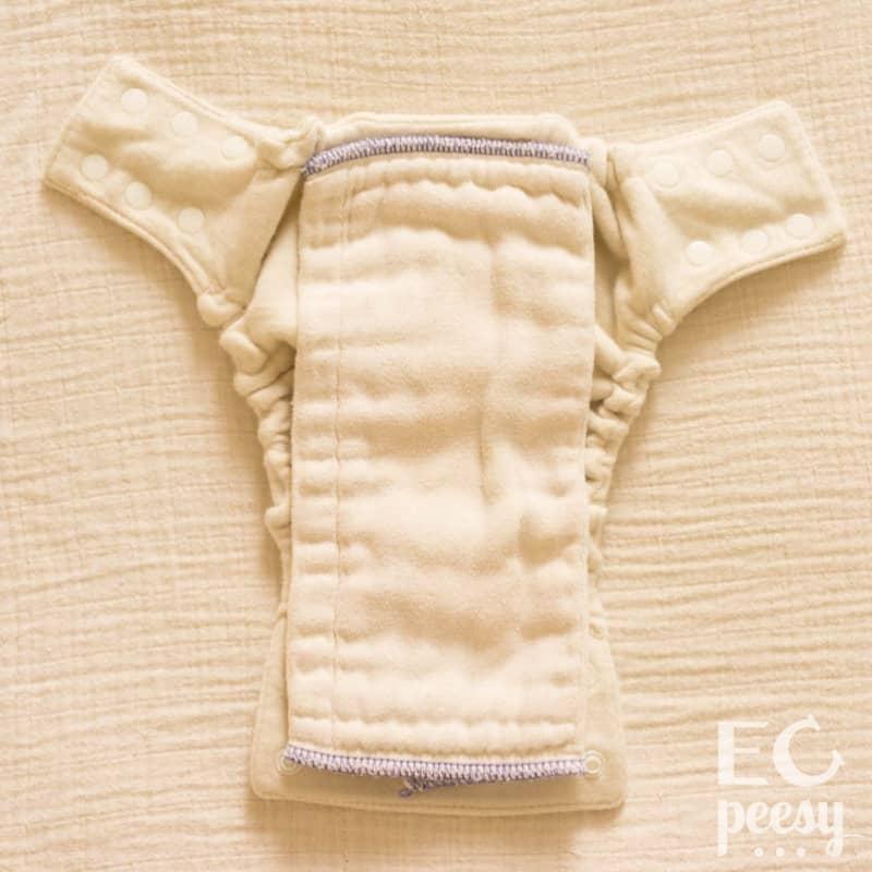 Babee Greens Newborn Wool Diaper Cover with Preemie Prefold