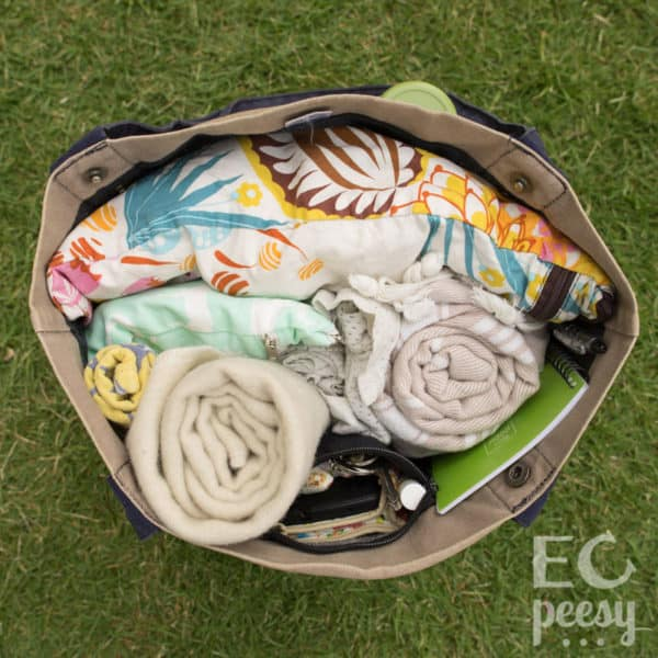 Packing a Potty and Cloth Diaper Bag for Elimination Communication