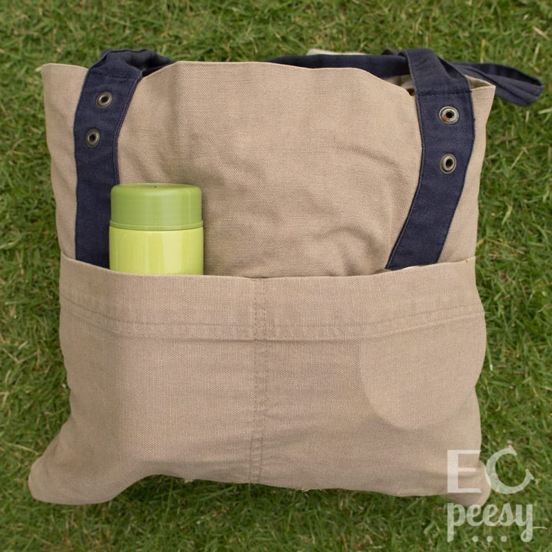Packed Diaper Tote EC Newborn Back