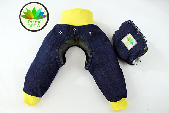 Pura Bebo EC Jeans with Integrated Diaper