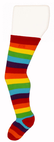Rainbow Rock-a-Thigh Baby Socks