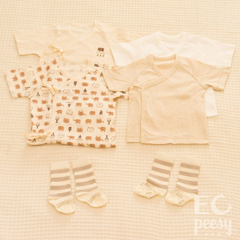 Newborn EC Clothing: Kimono Shirts and Wool Socks
