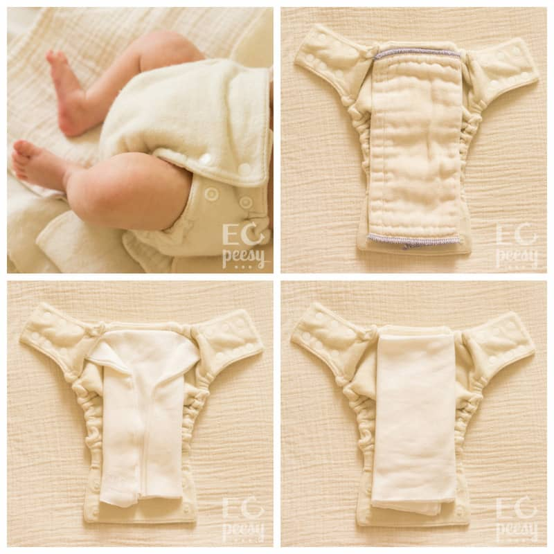 Babee Greens Wool Diaper Cover with Organic Inserts