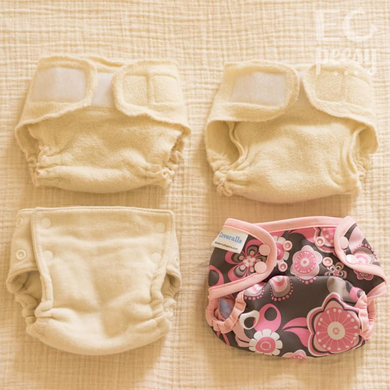 Newborn Diaper Covers Wool and PUL