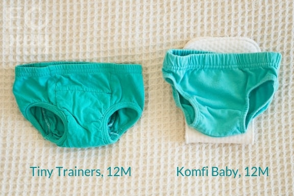 Comparison of Tiny Trainers and Komfi Baby Underwear
