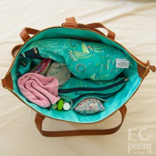 Newborn Diaper Bag with Cloth Diapers and Potty