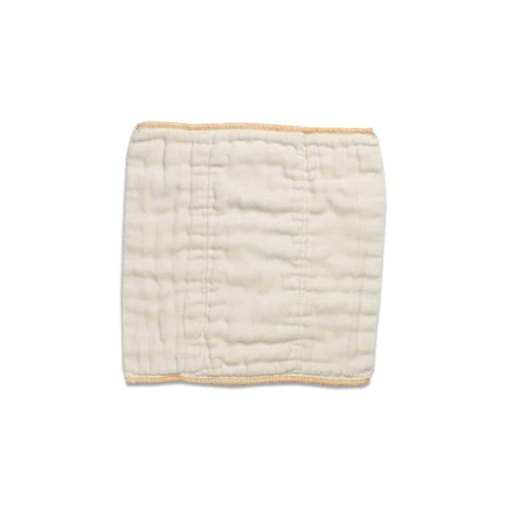 Cloth-eez Organic Prefold Newborn Orange Edge
