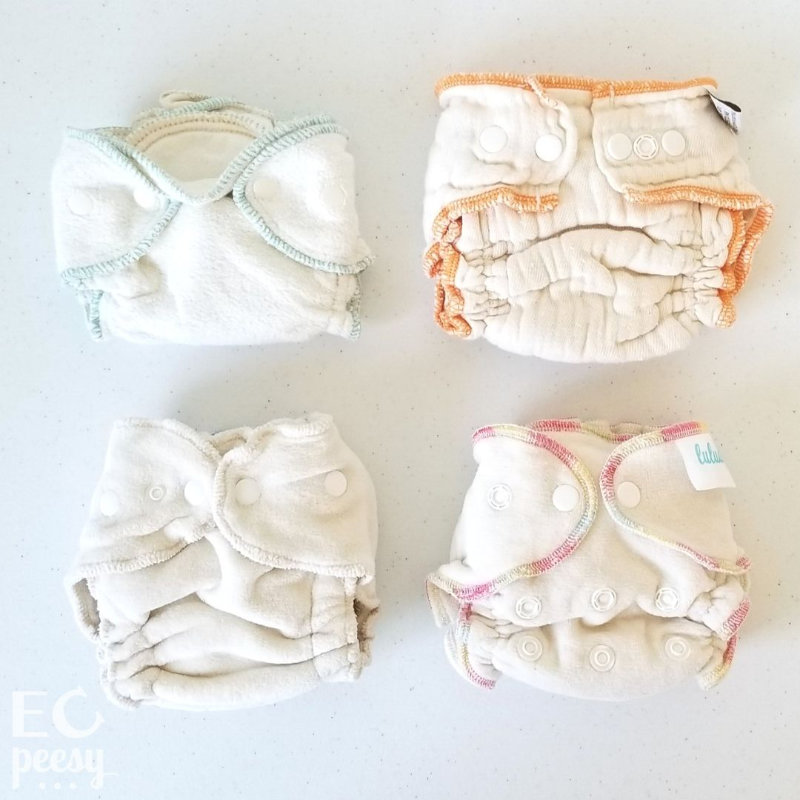 Newborn Cotton Fitted Diapers: Babeegreens, Cloth-eez, Luludew, Loveybums