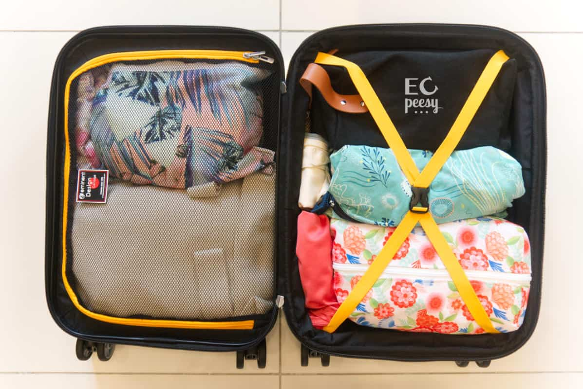 Packing Cloth Diapers for Flying on Vacation