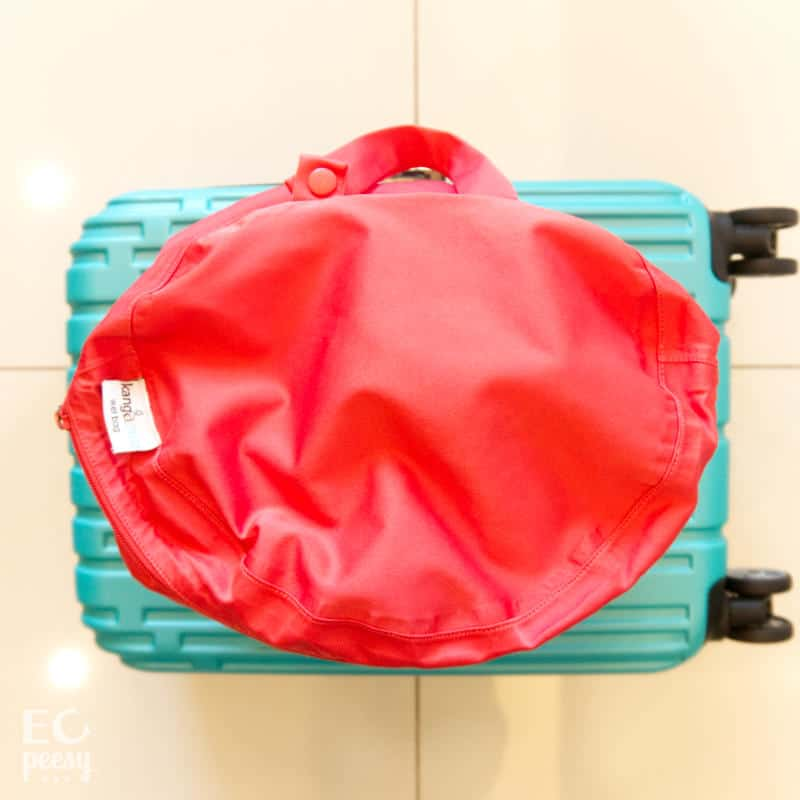Store dirty cloth diapers in a wet bag while traveling