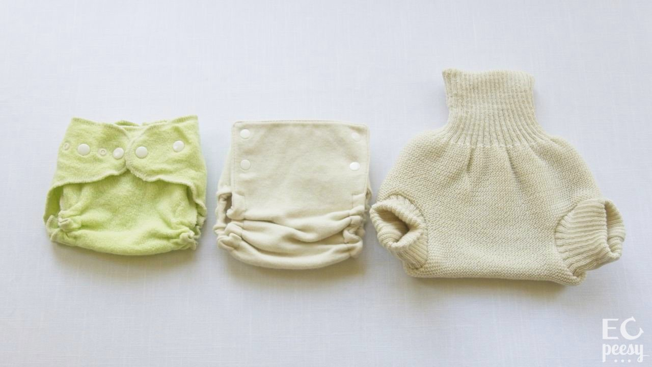 Styles of Wool Diaper Covers: Wrap a nd Pull-on Soaker